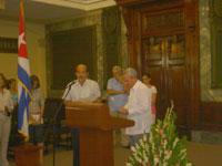 Eusebio Leal en el Aula Magna